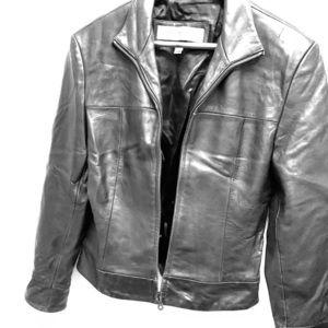 Marc New York Andrew Marc black leather jacket